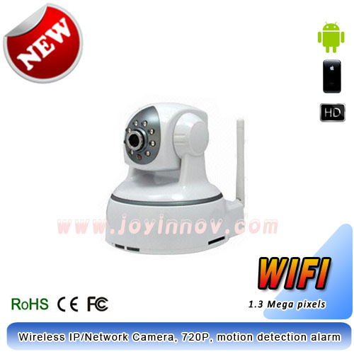 Wireless Cloud IP Camera,P2P camera,motion detection