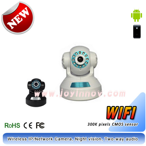 Wireless PTZ IP Camera,Night vision,motion detection