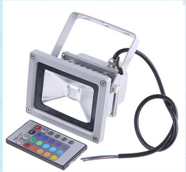 Colorful 10w20w30w50w rgb flood light colorful led flood light with lights remote control light