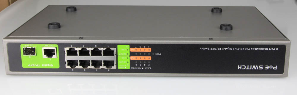 8-Port PoE Switch + 2-Port Gigabit/SFP