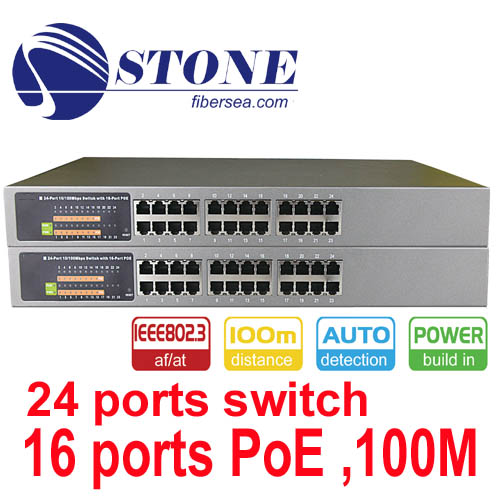 24 ports 10/100M PoE Ethernet Switch