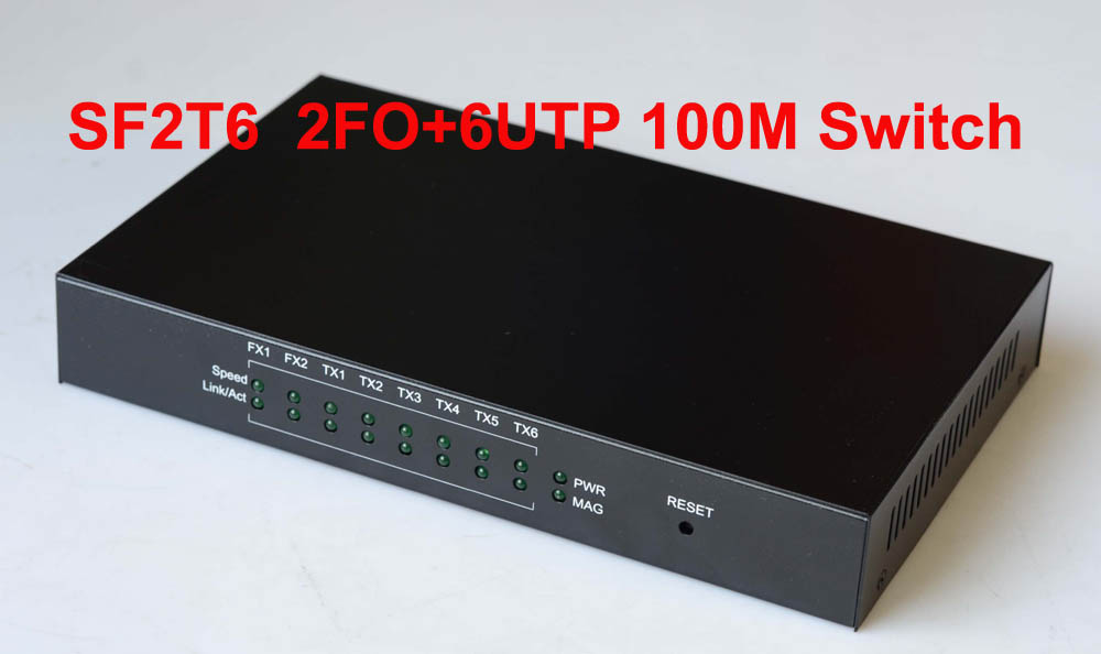 Gigabit 2UTP+2SFP Media Converter