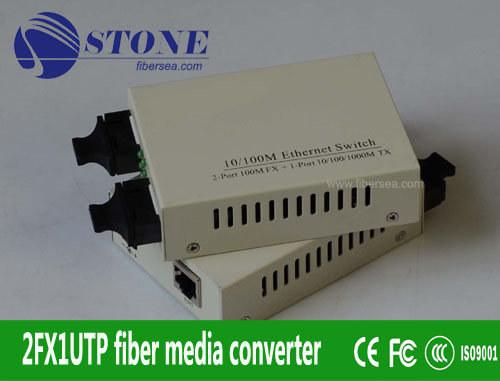 10/100M Ethernet Optical Fiber Switch (2FX+1TX)