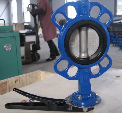 DN80/3 Cast Iron Butterfly Valve PN10/16