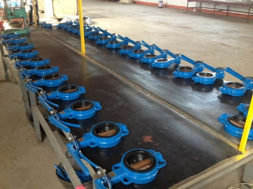 DN100/4 Cast Iron Butterfly Valve PN10/16
