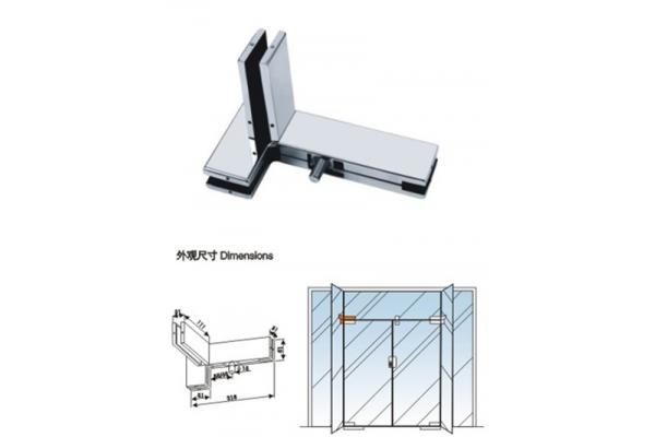 pivot glass door clamp, panel patch fitting, glass door clamp.V564L