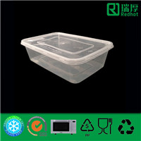 Disposable Takeaway Microwaveable Plastic Food Container (650ml)