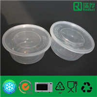Disposable Take Away Microwaveable and Freezable Plastic Food Container 450ml