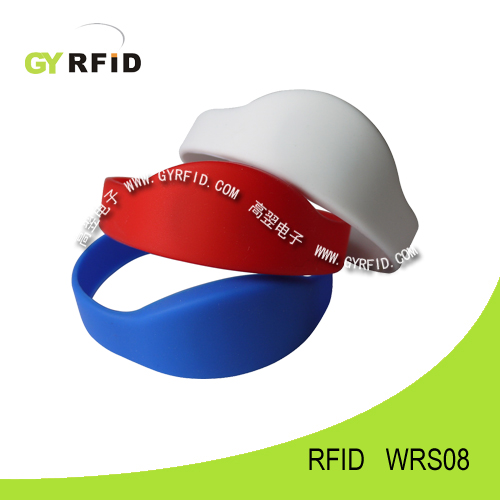 WRS08 new shape ISO14443A NFC silicon Wristbands(GYRFID)