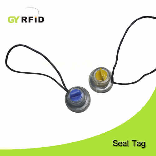 RFID seal tag can be with 13.56Mhz Mifare chip and UHF chip for electric meter (GYRFID)