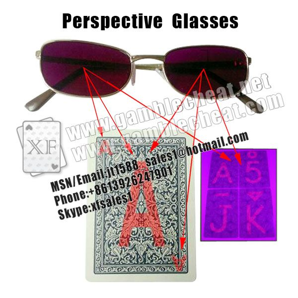XF Perspective Poker Glasses| marked cards| invisible ink