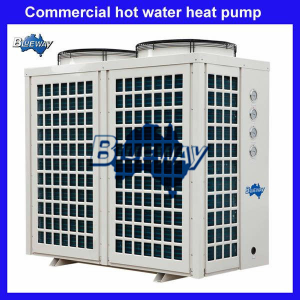 Commercial and industrial hot water heat pump systems
