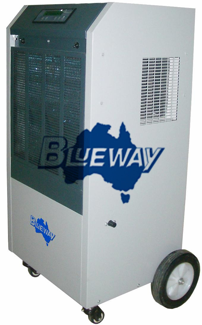 Industrial dehumidifier with universal wheel brake