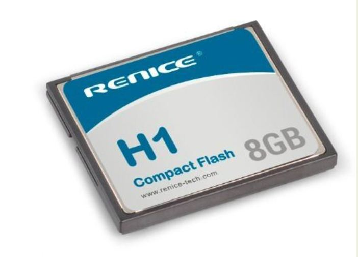 Renice Industrial Compact Flash CF card, 1 to 64GB, MLC/SLC, -40 to +85°C
