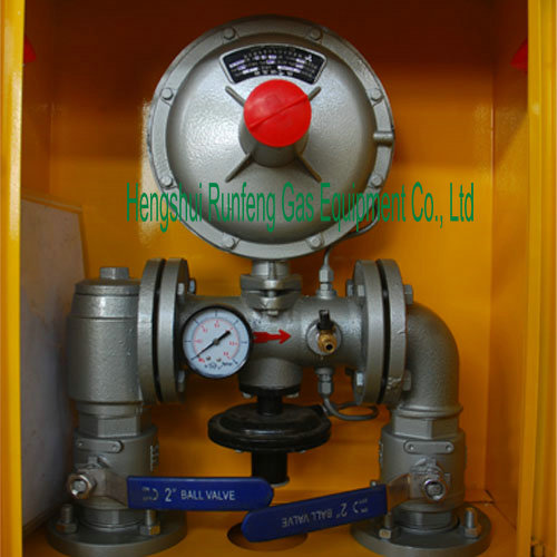 Cabinet-type gas control point