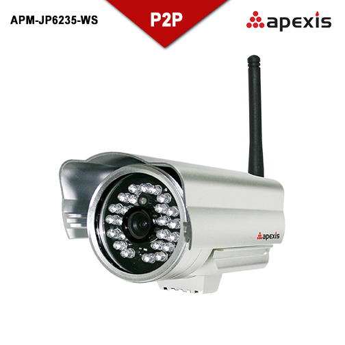 Apexis IP camera APM-JP6235-WS wifi IR-CUT P2P DDNS Motion detection alert