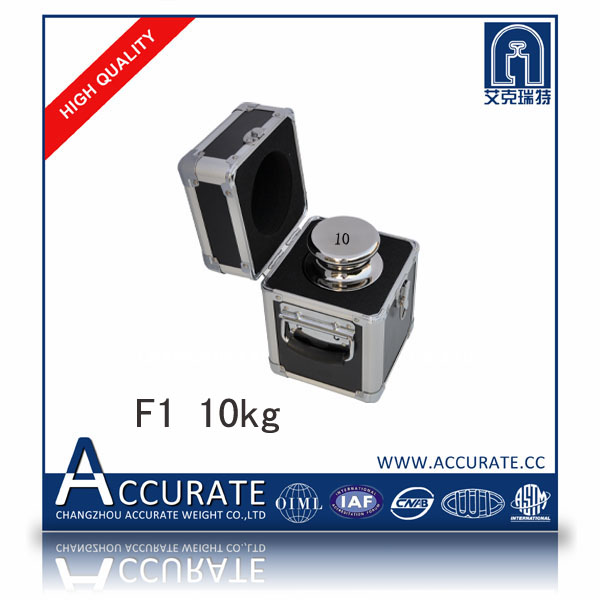 F1 10kg stainless steel calibration weights