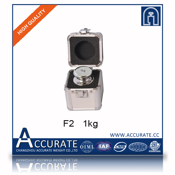 F2 1kg stainless steel calibration weights