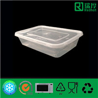 Takeaway Plastic Food Storage Container 500ml