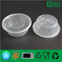 Plastic Fast Food Container with Lid (625ml)