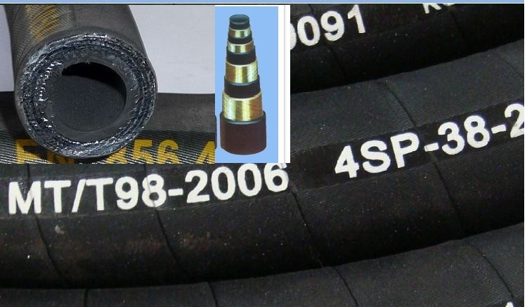 wire sprial hydraulic rubber hose