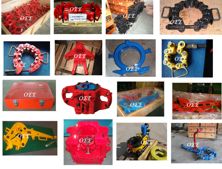 Handling tools-elevator, slips, manual tongs, safety Clamps, bushing, clamps