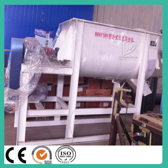 Single shaft poultry feed mixer machine