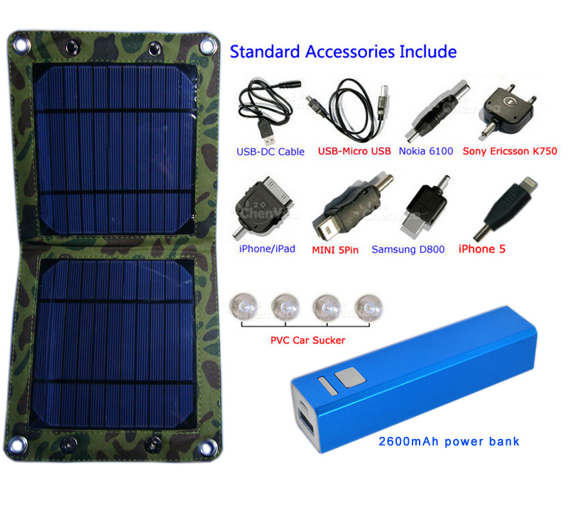 7watt foldable solar mobile phone charger CY-707