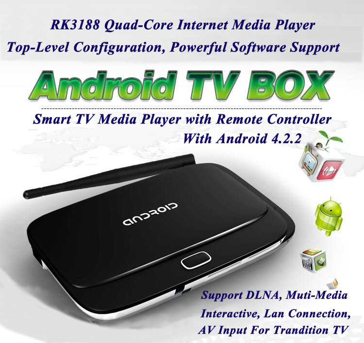 Android 4.2 TV Smart Box RK3188 Quad Core Mini PC