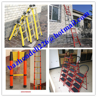 ladder&straight ladder,FRP Square Tube A-Shape insulated ladders