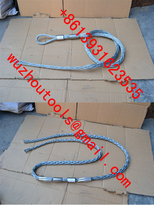Non-conductive cable sock,Fiber optic cable sock,Pulling grip,Cable Pulling Sock