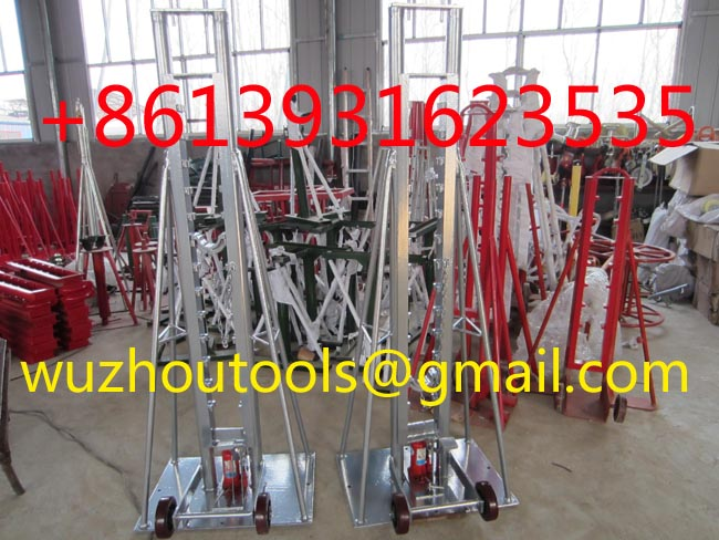 Cable Drum Jacks,Cable Drum Handling,Hydraulic lifting jacks for cable drums