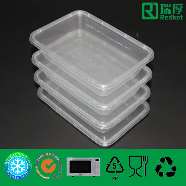 PP Plastic Disposable Container 500ml