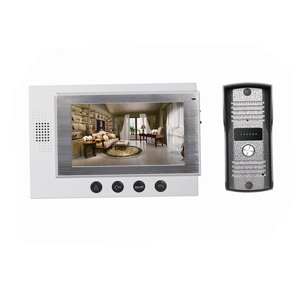 7 inch video door intercom with CE,FCC,RoHS