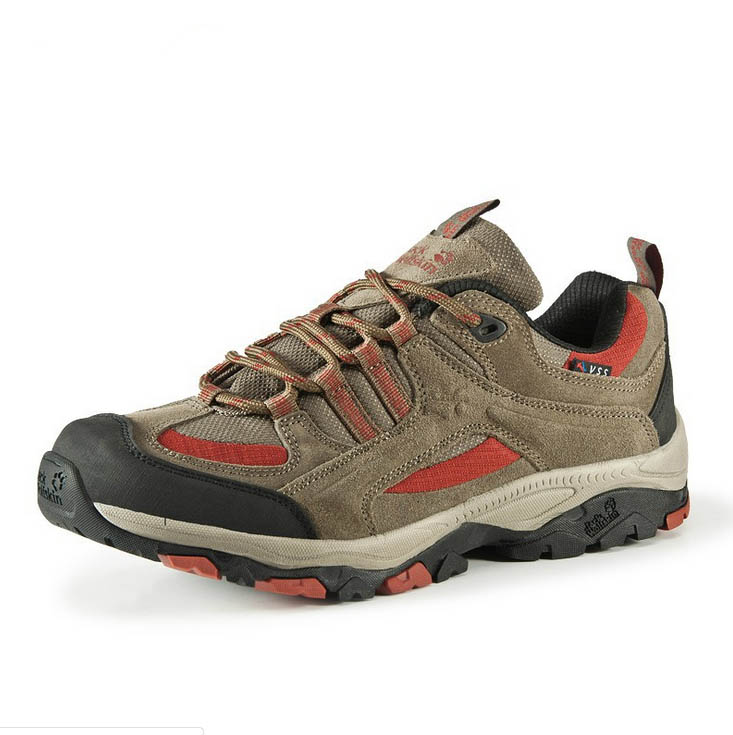 suede leather rubber sole hiking climbing trekking footwear shoes for mens