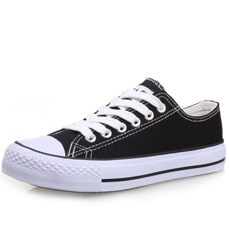 low cut flat canvas vulcanized sneaker casual footwear shoes for boys