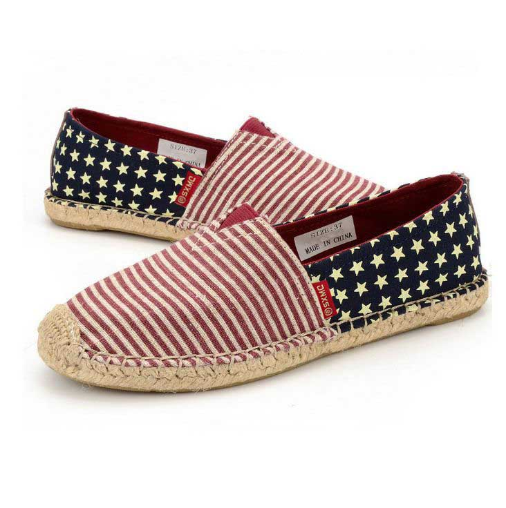 casual canvas rope sole sharp toe flat footwear shoes for girls womens