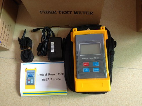 Optical power meter for fiber test project