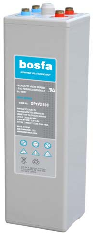 OPzV2-800 sealed lead acid (gel) battery 2v 800ah battery gel opzv battery