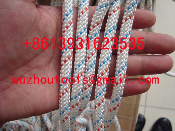 pp double braided rope used for tent diamond braid rope