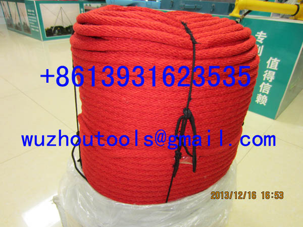16 strand braid rope Braided Polypropylene rope Hollow braided rope