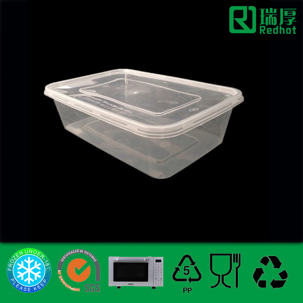 Manufacturer Professional Supply Plastic Food Container (650ml)