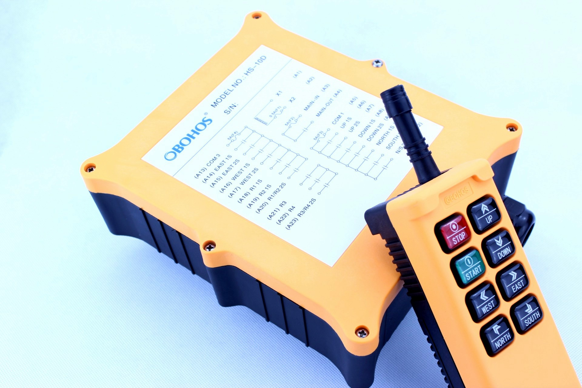 HS-8D6 Double Speed Industrial Wireless Remote Control System for Crane Hoist