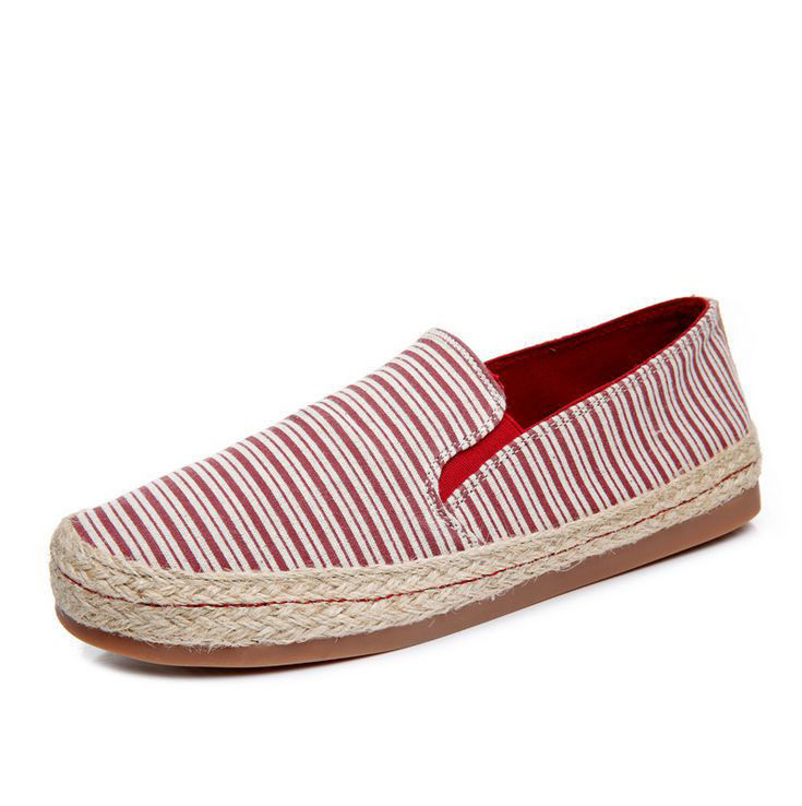girls canvas flat casual hemp rope shoes