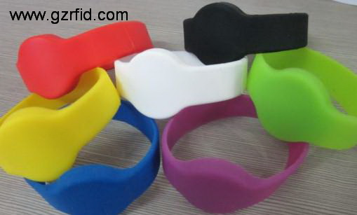 Mifare S50 1K RFID wristband,ISO14443A Silicone bracelet