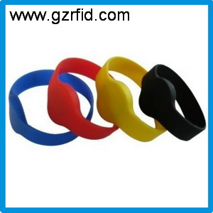 125khz T5577 wristbands,ISO11784 proximity rfid silicone waterproof rewritable Bracelet