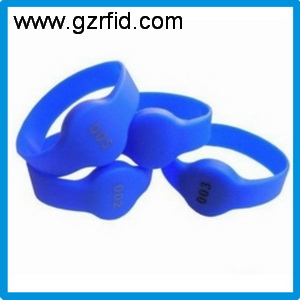 860-960MHz UHF RFID Silicone Wristband with NXP GEN2 for access control,UHF rewritable Bracelet