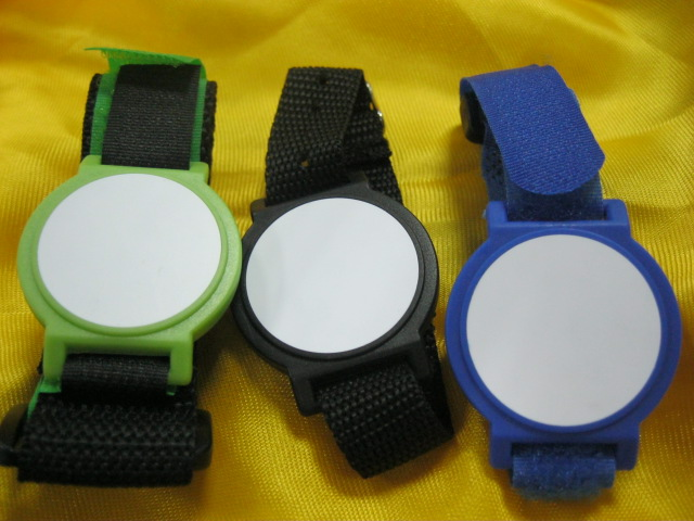 13.56MHz RFID Nylon Wristbands,ISO14443A F08 Nylon waterproof bracelet for access control