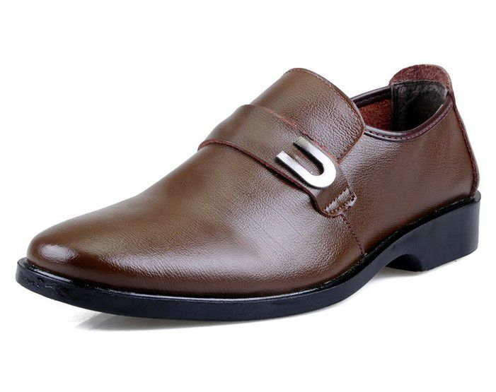 men's genuine leather flat casual shoes