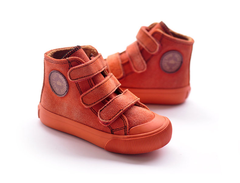 girls suede leather flat casual ankle boot for kids